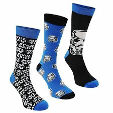 3x Star Wars Mens Crew Socks Novelty Ankle Pairs Trainer Accessories