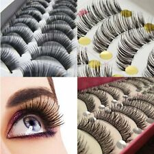 10 Pair Makeup Handmade Natural False Thick Eyelashes Long Eye Lashes Extension