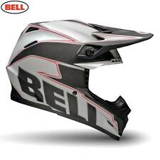 BELL MOTO 9 CARBON EMBLEM WHITE MOTOCROSS MX PIT BIKE DIRT BIKE HELMET