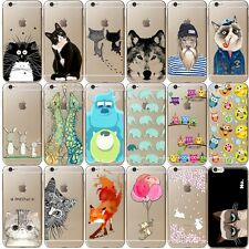 New Cute Animal Pattern Thin Slim Soft TPU Back Phone Case Cover Skin For Iphone