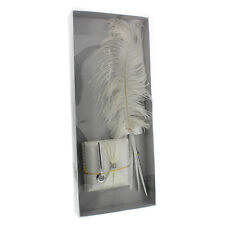 Wedding Bridal Wings Of Love  Holder & Ostrich Feather Quill  Pen