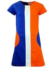 NEW RETRO SIXTIES INDIE PANEL & POCKET 60s 70s MOD DRESS Vintage MC186 A3D/E