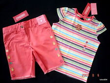 Gymboree Jungle Gem Flower Fringe Coral  Shorts Stripe Stone Top Shirt  5 6 NWT