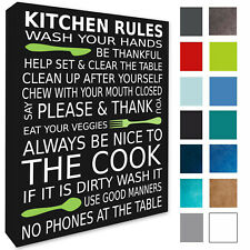 Kitchen Rules Wall Picture Wall Decor Kitchen Wall Picture Canvas Print A3/A4
