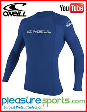 O'Neill Long Sleeve Rashguard 50+ UV Protection Sun Protective Shirt Blue