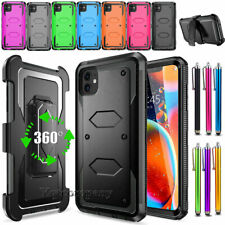 For Apple iPhone Shockproof Rugged Hybrid Rubber Hard Phone Cover Case + Clip