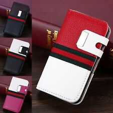 New PU Leather Magnetic Flip 2 IN 1 Card Wallet Case Cover For Apple iPhone 4/4S