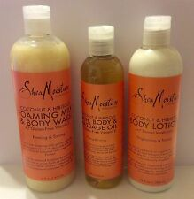 Shea Moisture Coconut & Hibiscus Bath body wash, lotion, Or massage oil CHOOSE +