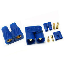 2 Pair Female Male EC3 EC 3 3.5mm Bullet Connector Plug Battery M1 Blue