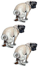Pug Dog Poop Humorous Funny Vinyl Decal Sticker - Auto Car SUV Truck RV Cup Boat