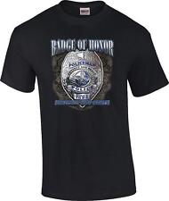 TALL Badge of Honor Protect and Serve Policeman Police Officer T-Shirt