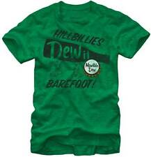 New Authentic Mens Mountain Dew Hillbillies Tee Shirt in Heather Green