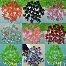 150 x Acrylic Translucent Star Beads Jewellery Marking Finding 10mm