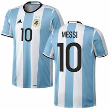 Lionel Messi Argentina adidas 2016/17 Home Replica Jersey - Light Blue - Soccer
