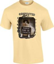 Funny Convicted Feline Mug Shot Ate Dogs Food Again Kitty Cat T-Shirt