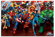 Marvel Heroes Attack Poster New - Maxi Size 36 x 24 Inch