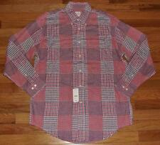 NWT Brooks Brothers Mens L/S Buttondown Shirt Original Polo Patchwork Plaid *3S