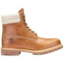 "Timberland 158H Mens Sizes Waterproof 6"" Wheat Scratch Canvas Double Sole Boots"