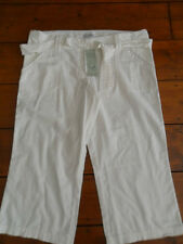 LADIES Next BNWT Maternity white linen mix cropped trousers size 8  & 10