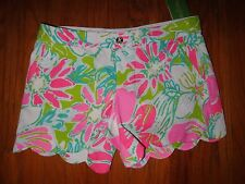 NWT LILLY PULITZER  PINK DONT GIVE A CLUCK BUTTERCUP SHORT 4  6 8 10 12 14 16