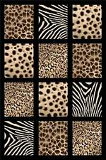 8X11 CARVED AFRICA SAFARI ANIMAL SKIN MODERN AREA RUG