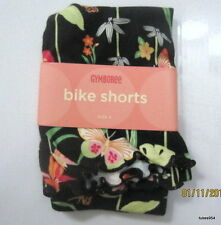 Gymboree Tropical Paradise Black Butterfly Flower Bike Shorts 3 6 9 12 2T 4 NWT