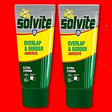 2X SOLVITE OVERLAP & BORDER WALLPAPER REPAIR ADHESIVE 240G TUBE PASTE GLUE VINYL