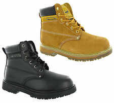Groundwork Leather Safety Steel Toe Cap Padded Ankle Mens Work Boots UK3-13