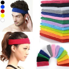 Women Men Yoga Gym Sweat Sweatband Headband Stretch Soft Cotton Sport Hair Band