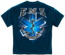 Navy Blue EMS On Call for Life Star of Life T-Shirt