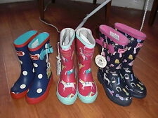 BNWT GIRLS JOULES WELLIES WELLINGTONS PONY or DOLLY MIXTURE Size 8,9,11,2,3 or 5