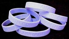 """Periwinkle Awareness Bracelets Lot of 6 Cancer Silicone Wristband 8"""" IMPERFECT"""