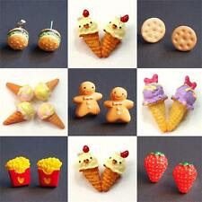 Fashion 10 Styles Cute Food Fruit Resin Pin Stud Earrings Stud Super Lovely Gift