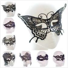 Black Lace Eye Mask Venetian Masquerade Halloween Ball Party Fancy Dress Costume