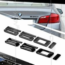 BLACK REAR BOOT 550i NUMBER EMBLEM BADGE FOR BMW 5 SERIES E60 E61 F10 F11 F07 M