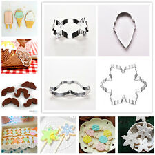 1Pcs Fondant Stainless Steel Cutter Cake Mold Cookie Mould Multi-Style Biscuit