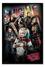 Framed Suicide Squad Group In Squad We Trust Poster New