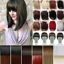 UK Real Thick Straight Bang Clip in on Fringe Hair Extensions Human Hairpiece
