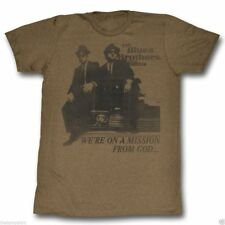 New Authentic Mens Blues Brothers Mission from God T Shirt Size S-2XL