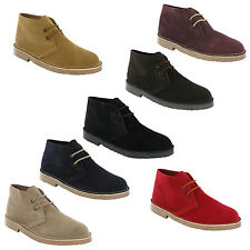 Roamers 2 Eye Desert Boots Mens Boys Real Suede Leather M467 Pointed Toe UK3-12