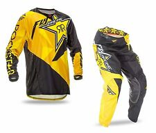 FLY RACING ROCKSTAR ENERGY KINETIC ADULT MX GEAR COMBO JERSEY + PANTS MOTOCROSS