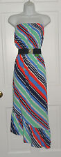 NWT LILLY PULITZER MULTI OVERBOARD STRIPE MERIDIEN DRESS S