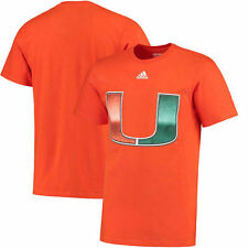 Miami Hurricanes adidas Chromed Logo T-Shirt - Orange - College