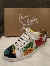 Christian Louboutin SEAVA Patent Hawaii Floral Print Lace Up Sneakers Shoes $795