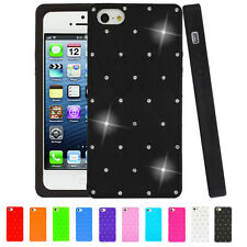 Diamond Star Series Silicone Skin Case Cover For iPhone SE 5S 5 Screen Protector