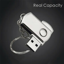 Real Capacity USB2.0 Flash Drive Metal Swivel High Speed Memory Stick Pen Gifts