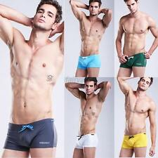 Hot Mens SwimWear Tether Beach Wear Swimming Trunks Shorts Boxer Briefs  6 Color