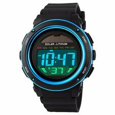 New Solar Energy Men Sports Watches Outdoor Military LED Brand Digital Watch M23