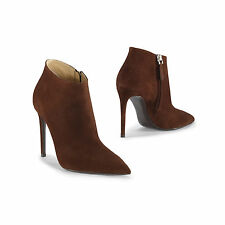 $750 Ralph Lauren Purple Label Collection Womens Tasella Brown Suede Ankle Boot