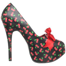 PINUP COUTURE TEEZE-12-6 Womens Stiletto Heel Hidden Platform Pump Satin Bow Tie